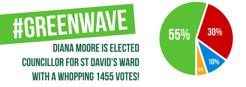 Green wave: fantastic results for the Green Party in the local elections